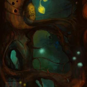 """Enchanted Forest"" digital concept art"