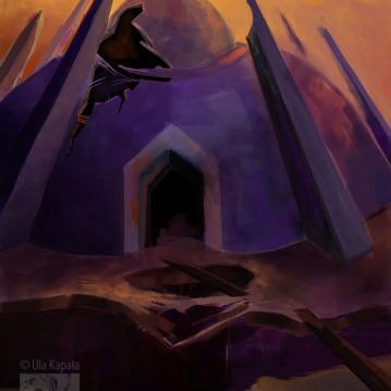 """""""Alien Ruin"""" concept art"""