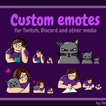 Twitch emotes design