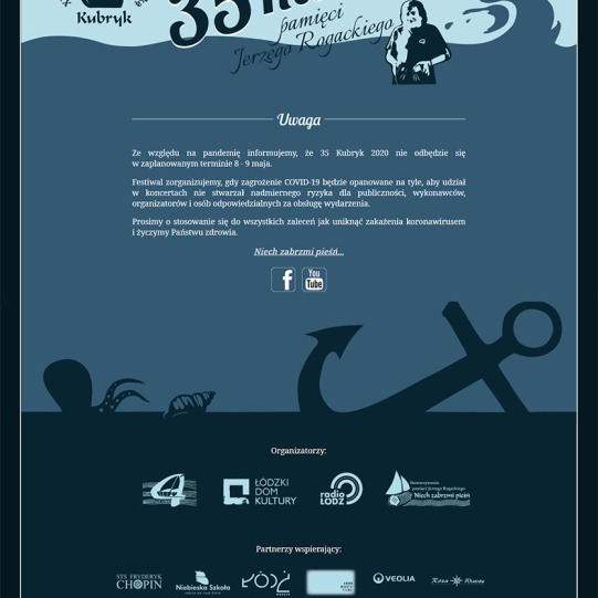 Kubryk Festival website design https://festiwalkubryk.pl/
