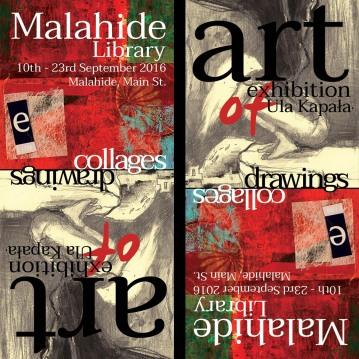 My exhibition info leaflet design
